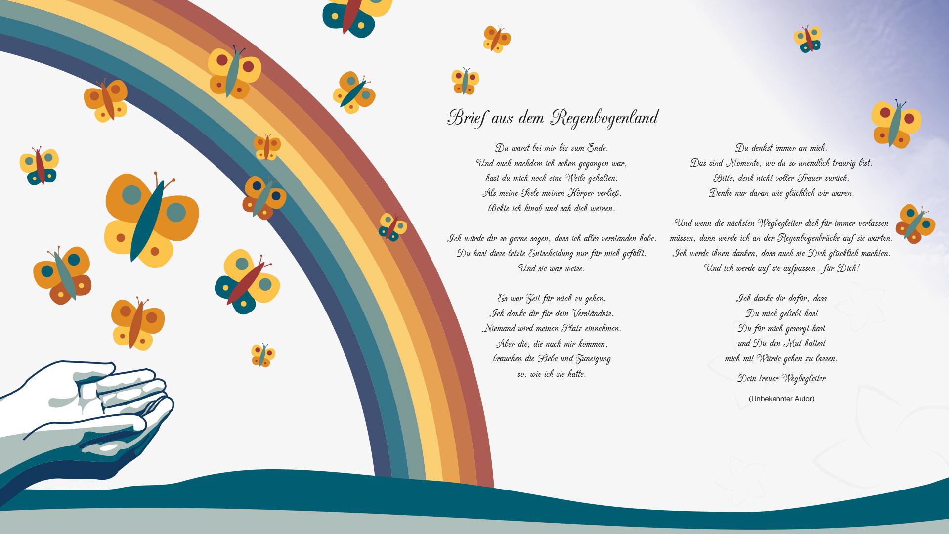 Regenbogen gedicht Gedichte und